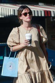Rachel Bilson - Leaves Starbucks in Los Feliz