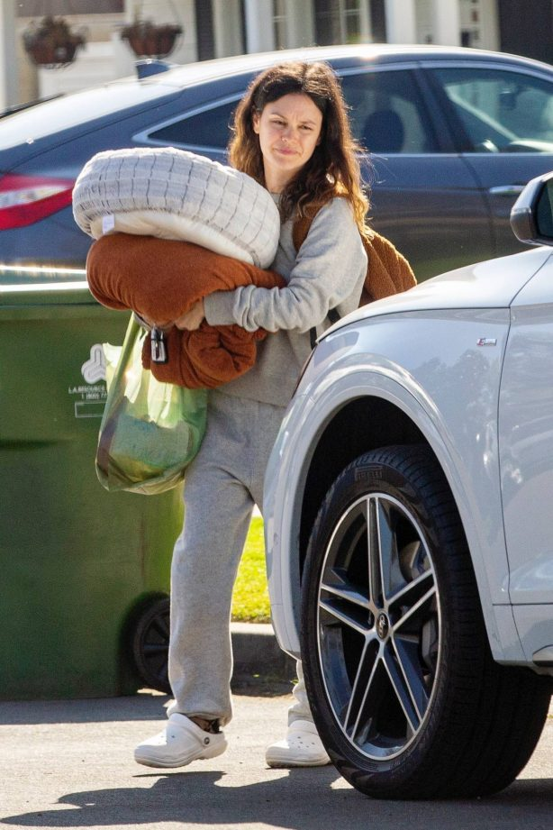 Rachel Bilson - leaving her mother's home in North Hollywood