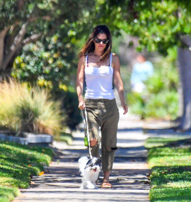 Rachel Bilson - Out on a walk in Studio City