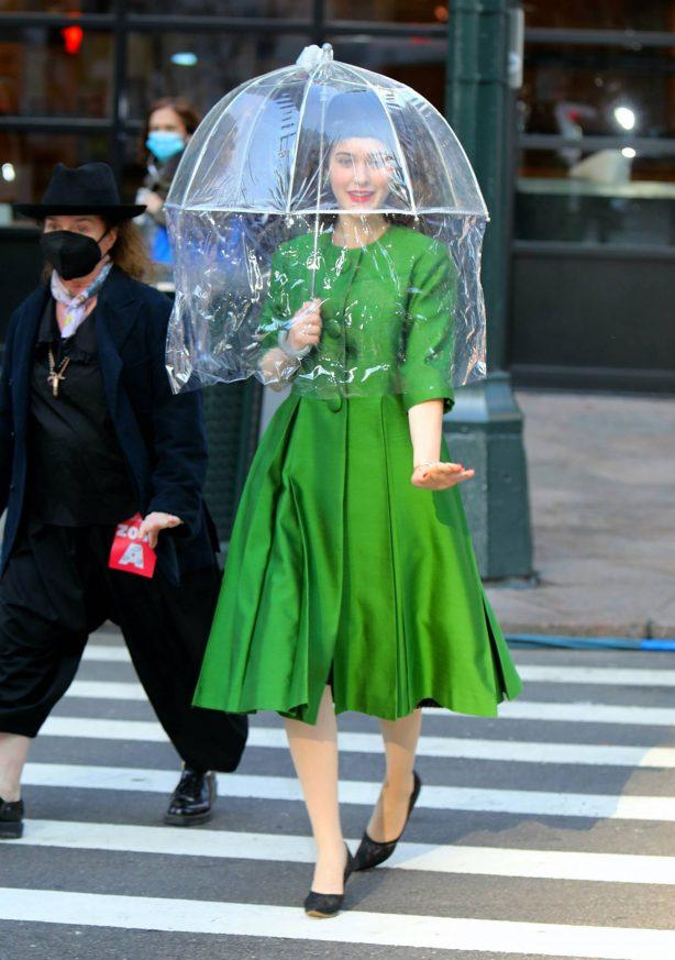 Rachel Brosnahan - Filming 'The Marvelous Mrs Maisel' TV show in New York