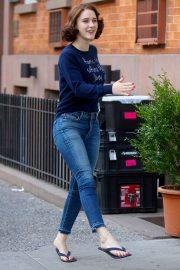 Rachel Brosnahan - 'The Marvelous Mrs. Maisel' Filming Rehearsals in Chelsea, New York