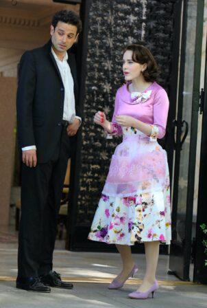 Rachel Brosnahan - 'The Marvelous Mrs Maisel' set in Uptown - Manhattan
