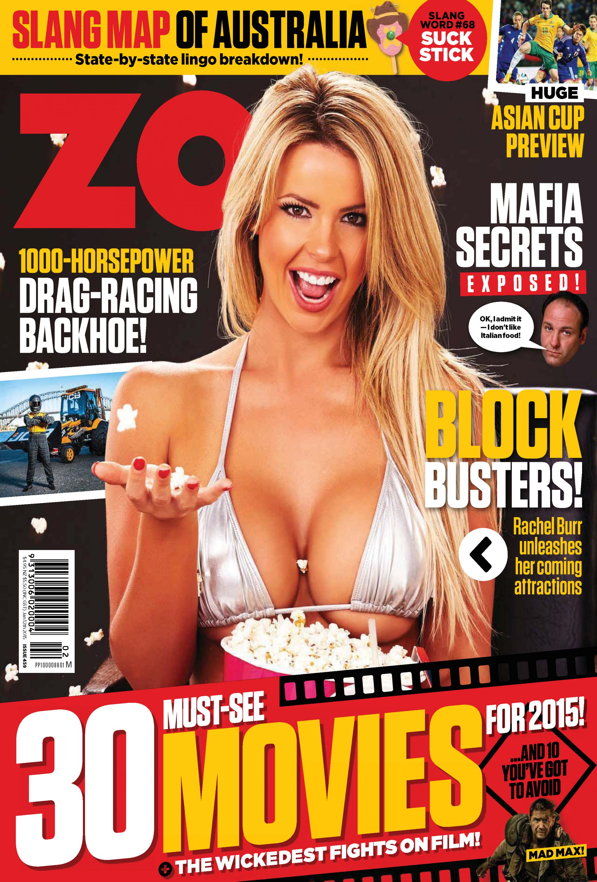 Rachel Burr - Zoo Australia Magazine (January 2015)