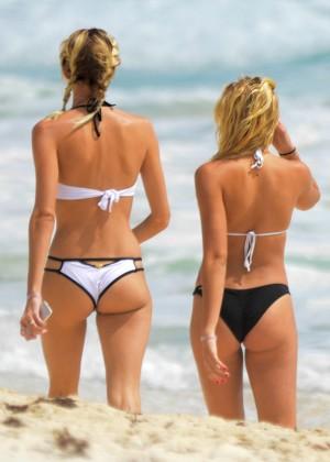 Rachel Hilbert and Devon Windsor in Bikini 2016 -05