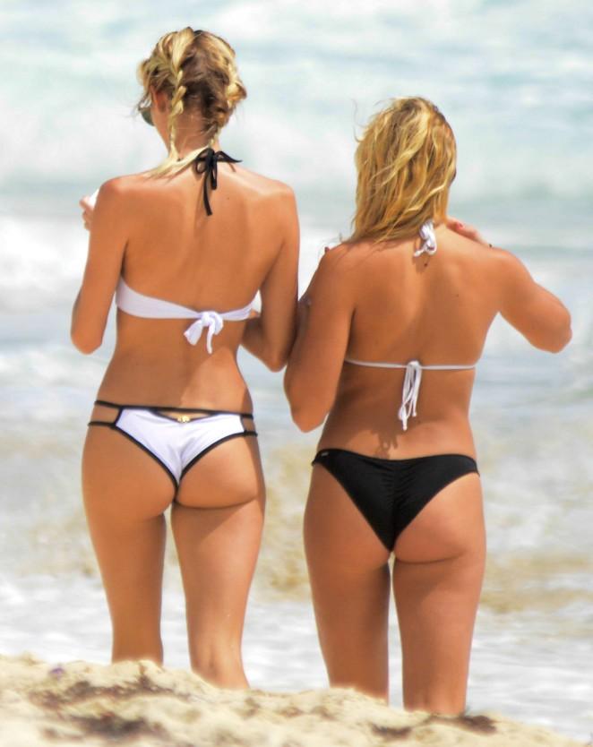 Rachel Hilbert and Devon Windsor in Bikini 2016 -07