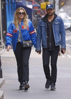 Rachel Hilbert with boyfriend Brett Eldredge out in New York