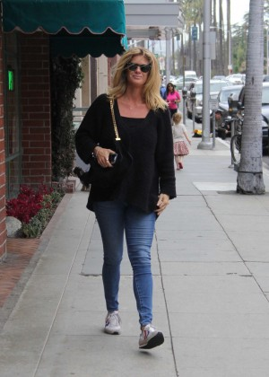 Rachel Hunter in Jeans out in Beverly Hills
