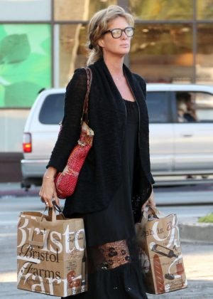 Rachel Hunter out shopping in West Hollywood