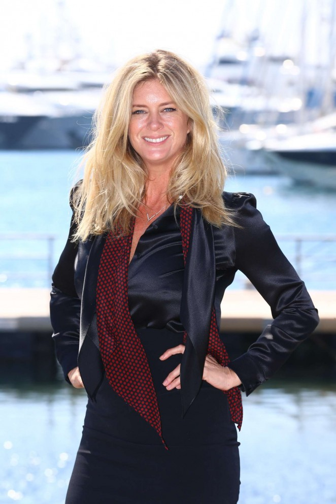 Rachel Hunter - 'Rachel's Tour Of Beauty' Photocall at MIPTV 2015 in Cannes