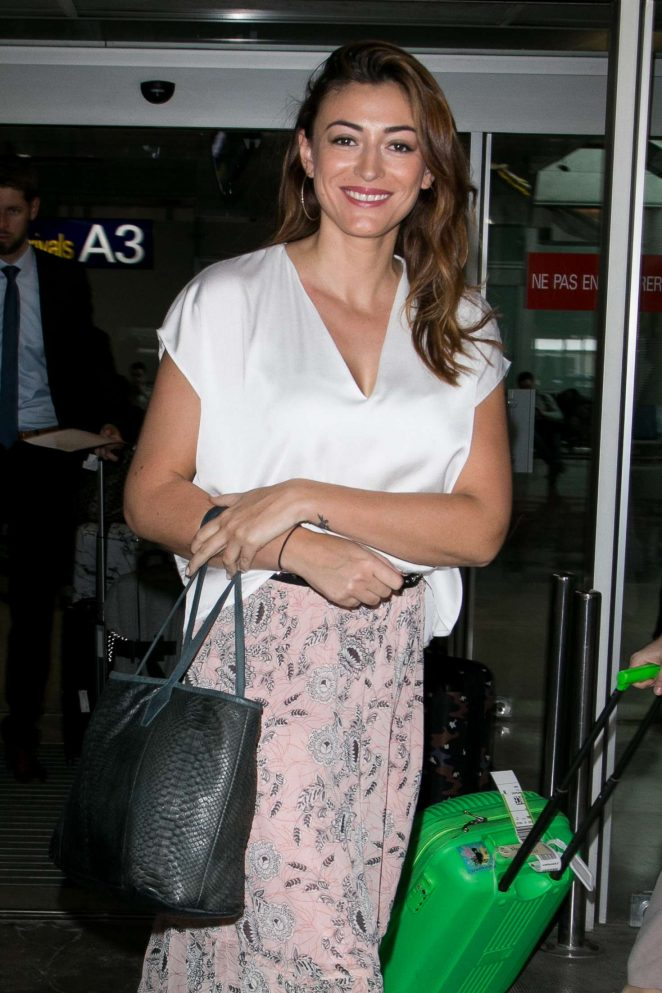 Rachel Legrain Trapani at Nice Airport in Cannes
