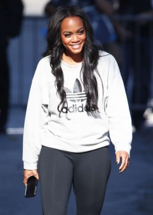 Rachel Lindsay - Arriving at Jimmy Kimmel Live! in LA