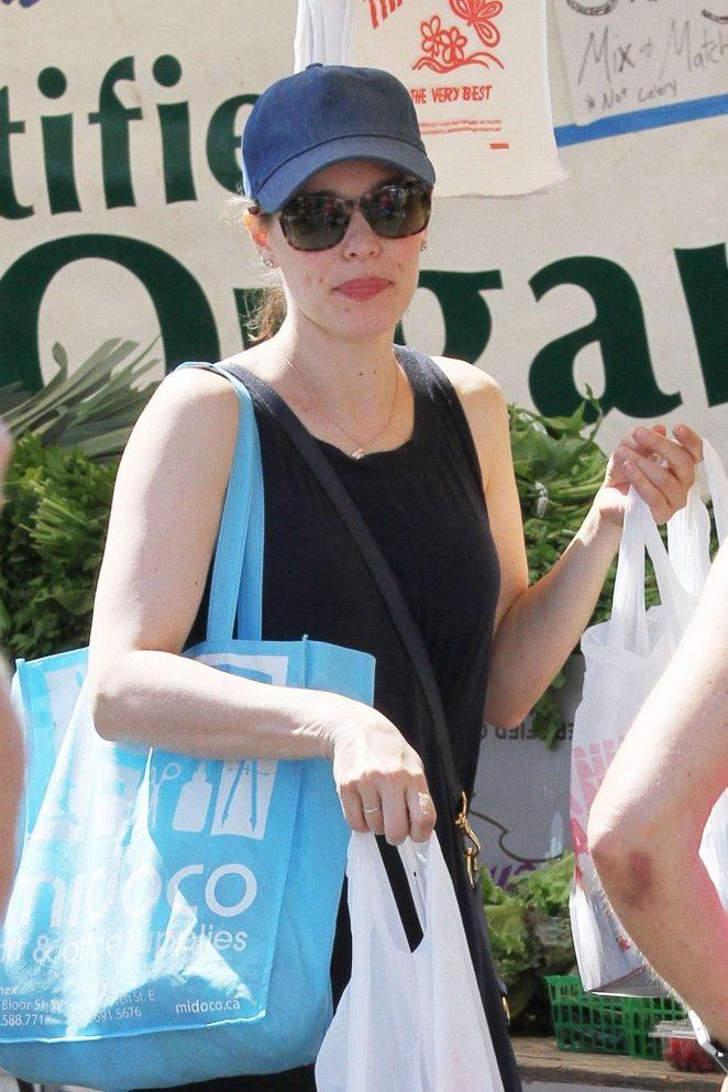 Rachel McAdams at Farmer's Market in Studio City