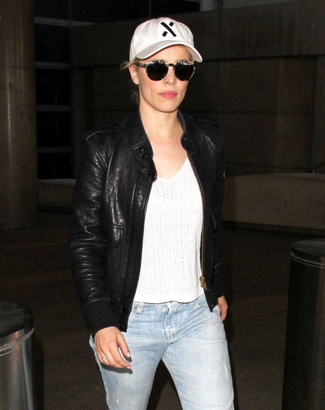 Rachel McAdams in Jeans at LAX Airport in Los Angeles
