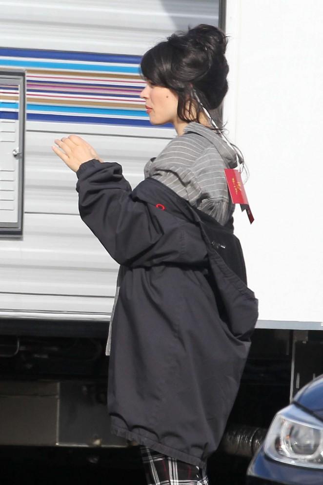 Rachel McAdams: On set of True Detective -03