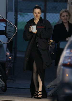 Rachel McAdams - On set of 'True Detective' in LA