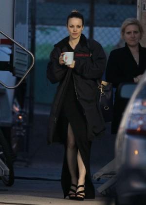 Rachel McAdams - On set of 'True Detective' in LA