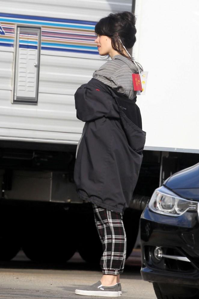 Rachel McAdams: On set of True Detective -12