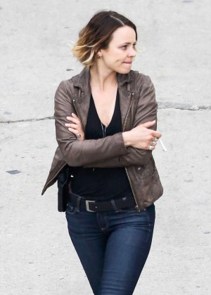"Rachel McAdams - On the set of ""True Detective"" in Los Angeles"