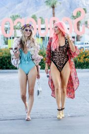 Rachel McCord and CJ Lana Perry in Swimsuit - Arriving at Coachella in Indio