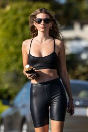 Rachel McCord in Black Outfit - On a hike in Los Angeles
