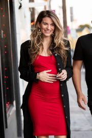 Rachel McCord in Red Dress - Out in Los Angeles