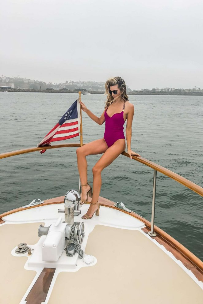 Rachel McCord in Swimsuit - Shooting a new campaign for Lovery in Marina Del Rey