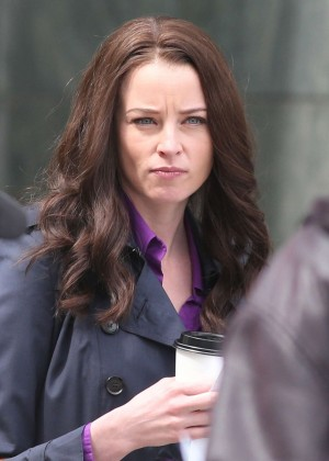 Rachel Nichols - Filming a scene for 'Continuum' in Vancouver