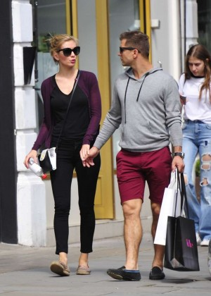 Rachel Riley and Pasha Kovalev Out in Notting Hill