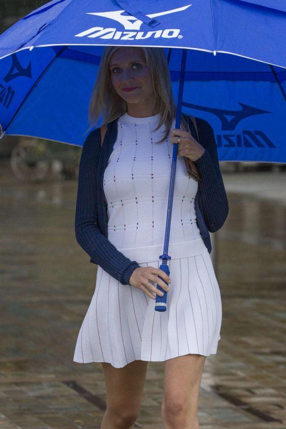 Rachel Riley in White Mini Dress - Out in Leeds