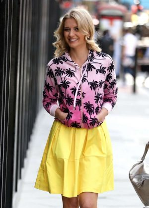 Rachel Riley - Leaving The Wright Stuff Studios in London