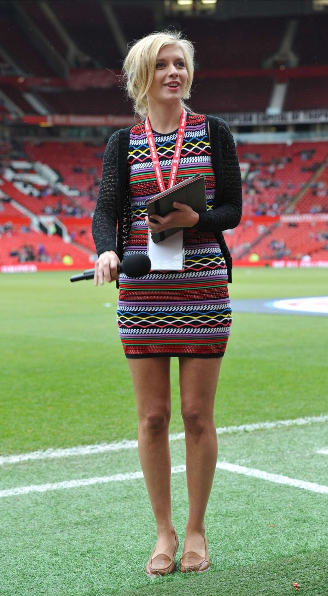 Rachel Riley - Manchester United Legends Charity Match at Old Trafford