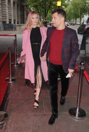 Rachel Riley - Seen at Cabaret All Stars with husband Pasha Kovalev in London