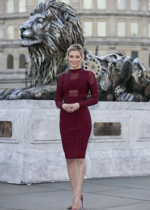 Rachel Riley - Unveils Fifth Lion Statue in London