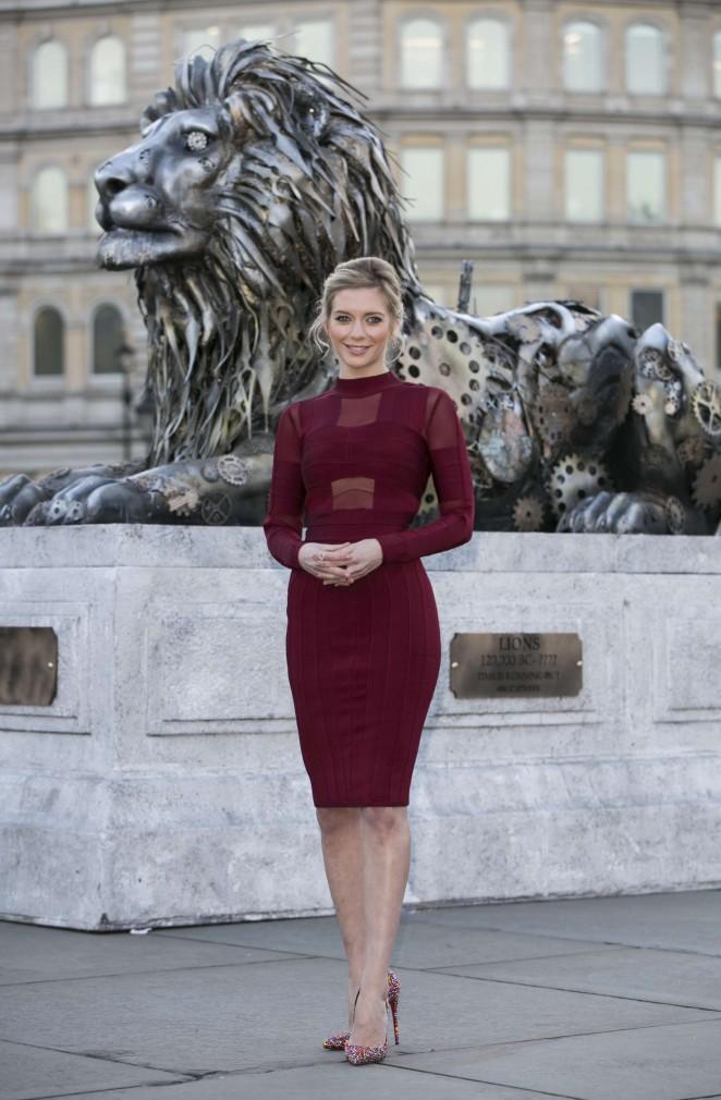 Rachel Riley - Unveils Fifth Lion Statue in London