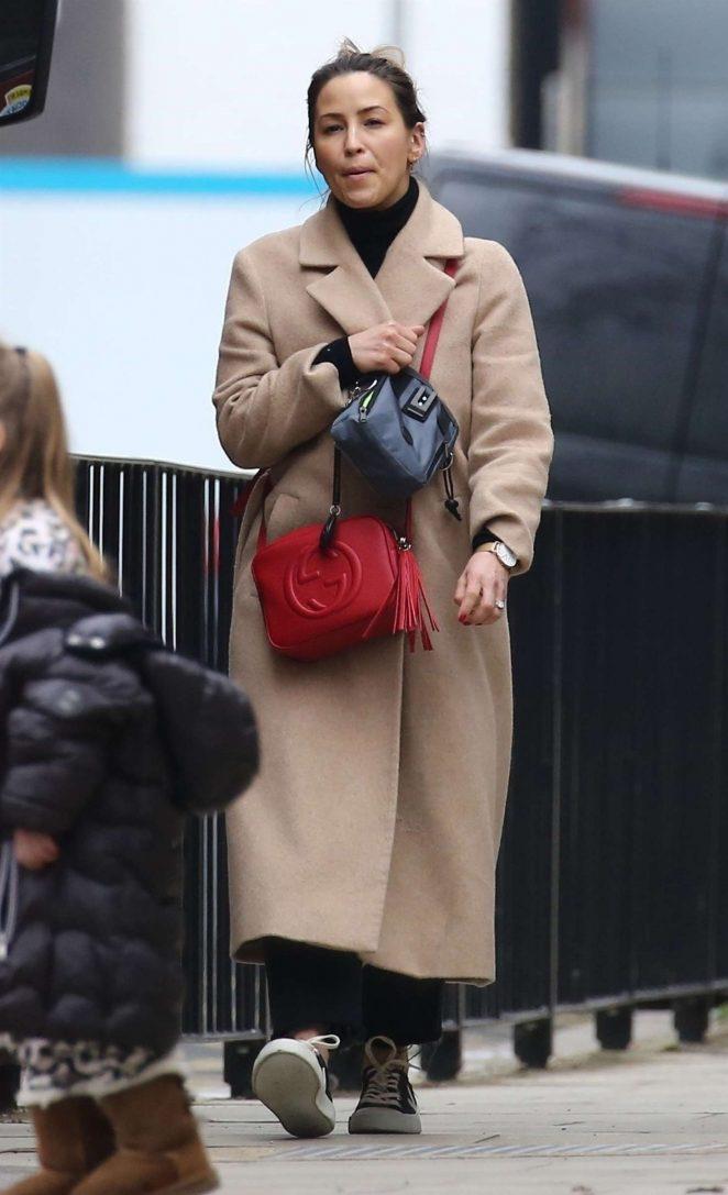 Rachel Stevens in Long Coat out in Primrose Hill