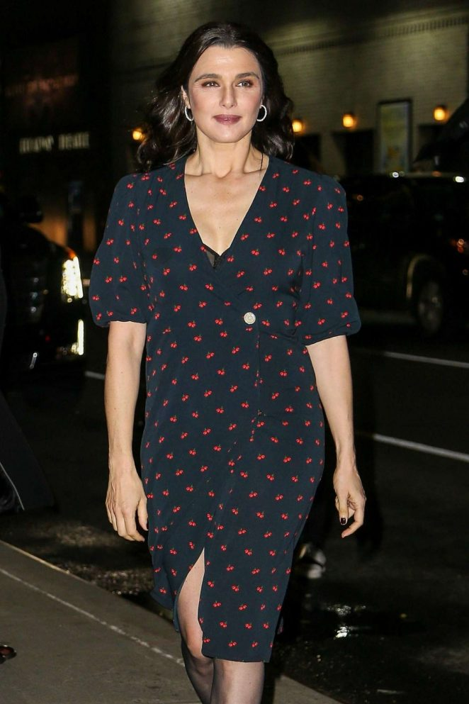 Rachel Weisz - Arrives at The Late Show With Stephen Colbert in NYC