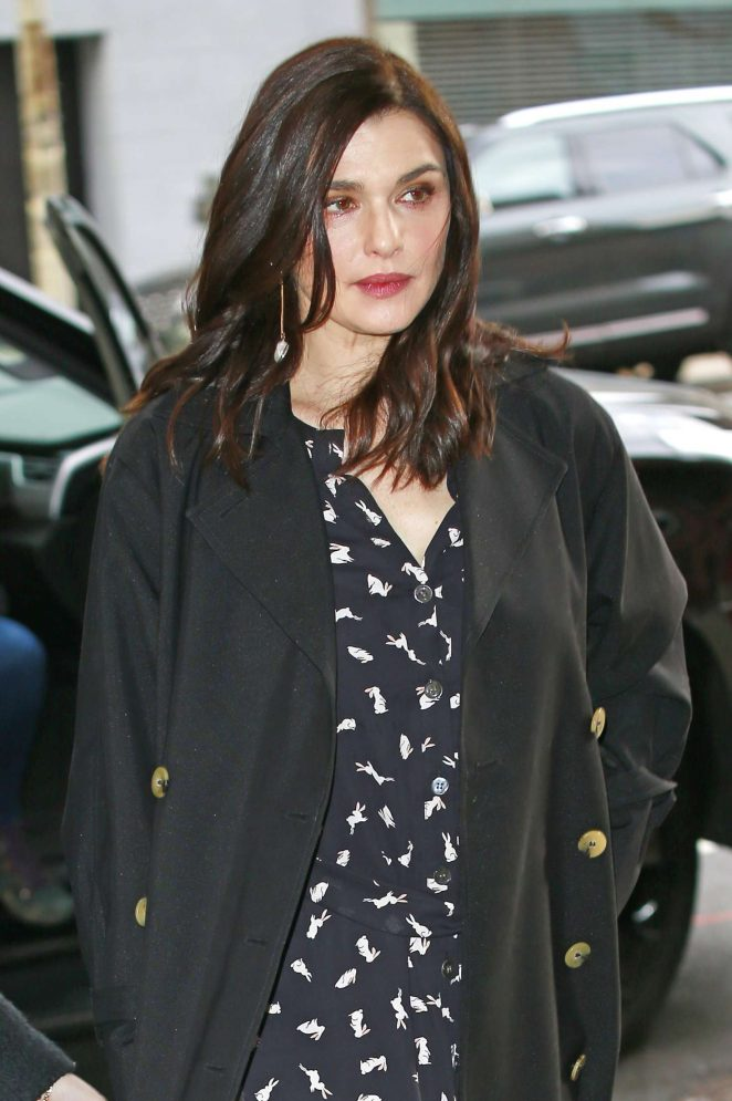 Rachel Weisz - Arriving at CBS studios in New York City