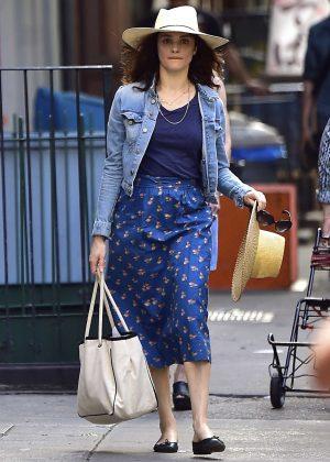 Rachel Weisz in Blue out in New York