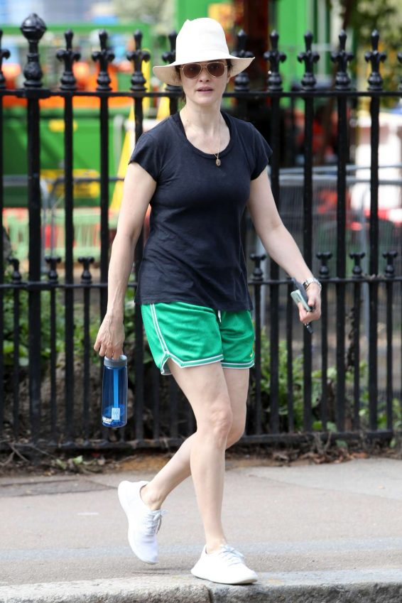Rachel Weisz in Green Shorts - Out in London