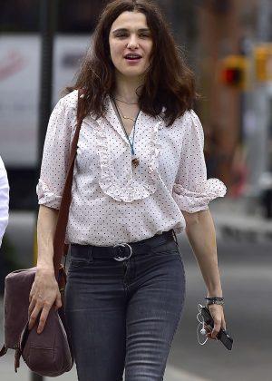 Rachel Weisz in Jeans out in Manhattan