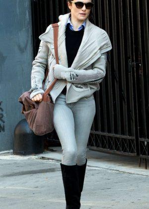 Rachel Weisz in Skinny Jeans out in New York