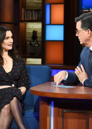 Rachel Weisz - On The Late Show with Stephen Colbert in New York City