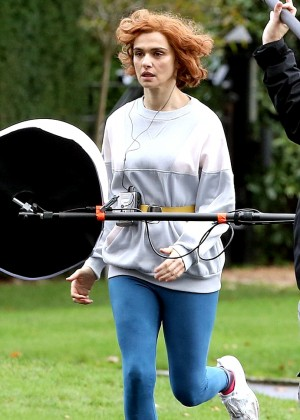 Rachel Weisz on the Set of 'Denial' in Surrey