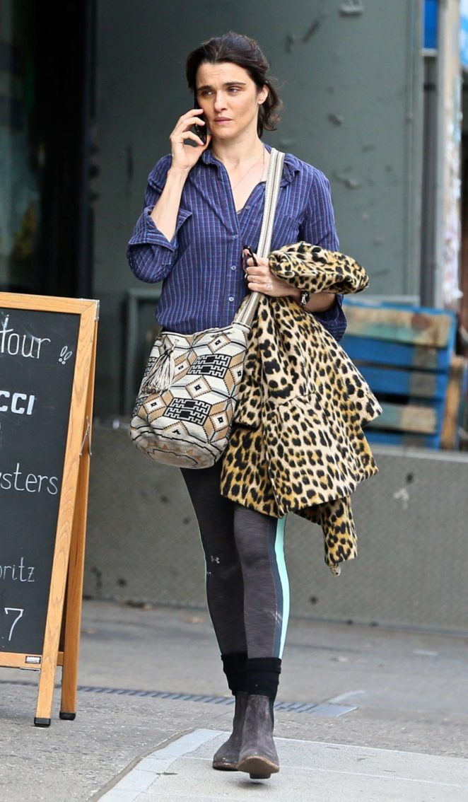 Rachel Weisz - Out in the East Village in NYC