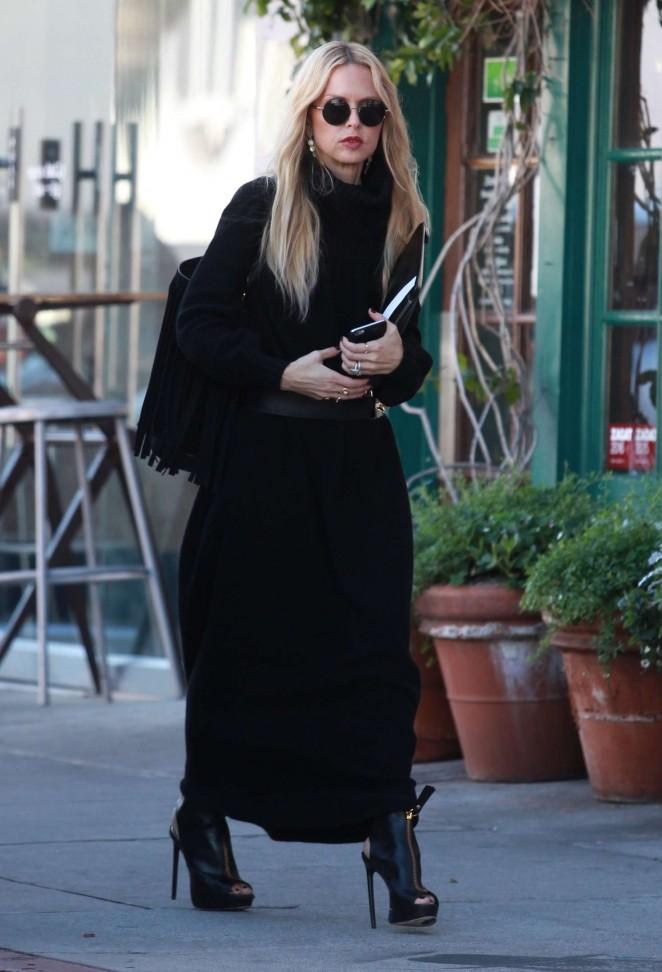 Rachel Zoe Arrives at her office in Beverly Hills