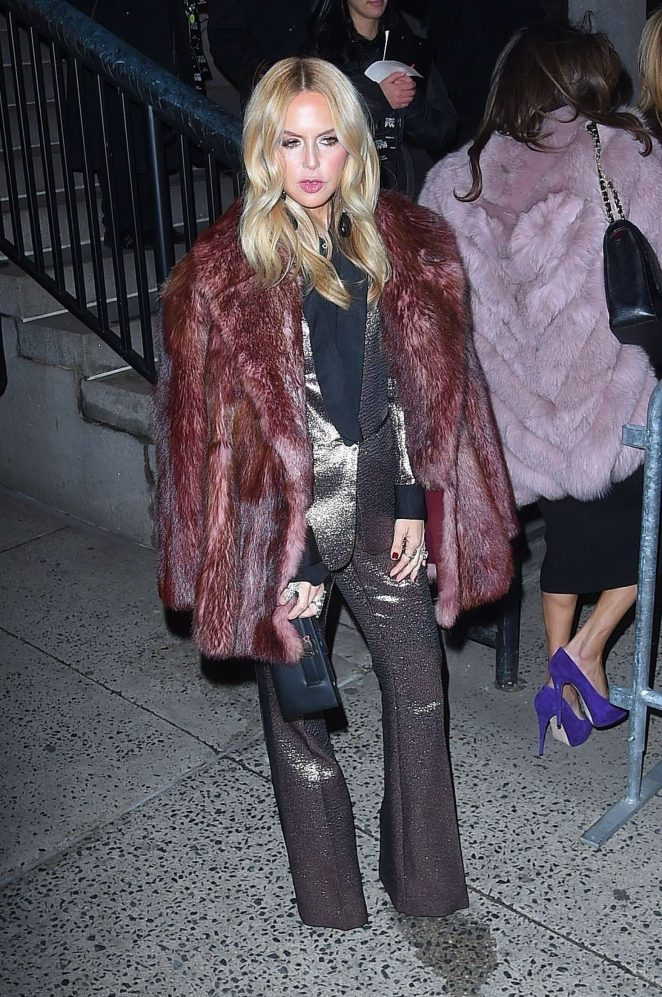 Rachel Zoe - Arrives at Jeremy Scott Fashion Show in New York