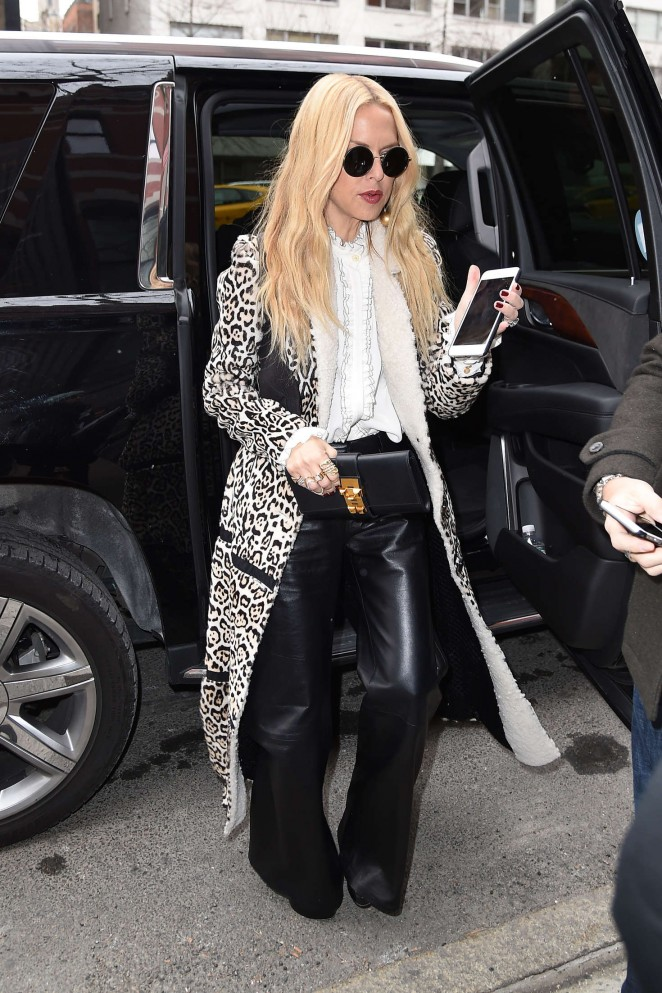 Rachel Zoe – Arriving at Tommy Hilfiger 2016 Fashion Show in NYC
