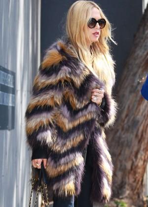 Rachel Zoe in Fur Coat out in Beverly Hills