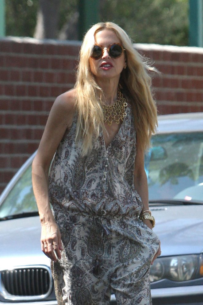 Rachel Zoe in Jumpsuit out in LA