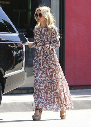Rachel Zoe in Long Dress out in West Hollywood